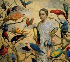 """Katherine Ace painting entitled """"Minstrel"""""""