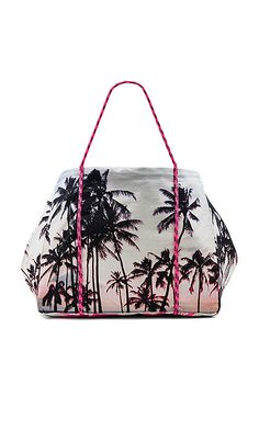 Samudra Rope Tote Bag in Cotton Candy. Neon and palm tree print. Yum.