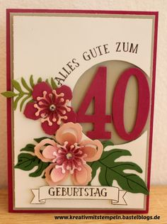 Geburtstagskarte, botanicalblooms, stampin up