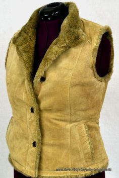 Authentic SEATTLE SUEDE Washable Suede EDDIE BAUER size SM faux fur lining #EddieBauer #fauxfur #suede