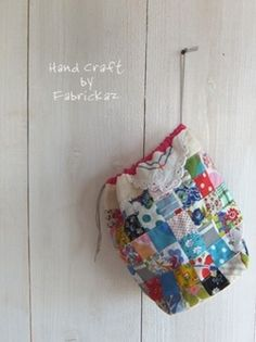 This is such a cute drawstring bag! Patchwork Bag from Fabrickaz