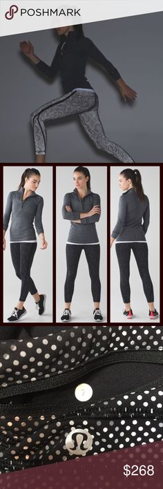 """Lululemon Pace Tight """"Lights Out""""Black • Sz 2 Lululemon Pace Tight (Full-On Luxtreme) • Lights Out • Black / Ravish Reptile Silver Black • Size 2 • Release Date: 11/2015 • Original Price: $298 • Material: Full-On Luxtreme • This souped-up version of the versatile run crop has you covered during tough nighttime workouts. They are designed with ample storage for our essentials and extra reflective detailing to keep us visible when we're training late • Roll Up cuff for more reflective option •…"""