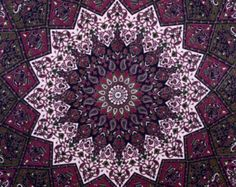 Maroon star Tapestry Wall Hanging, Hippie Tapestries, Wall Tapestries, Mandala Tapestries, Bohemian Tapestries, Wall Art, Indian Tapestry,