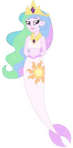 EG Mermaid Princess Celestia by CruellaDeVil84 on deviantART