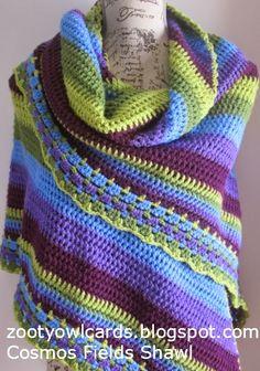 Zootyowl, triangle shawl, #crochet, free pattern, wrap, cotton, #haken, gratis patroon (Engels), omslagdoek, katoen