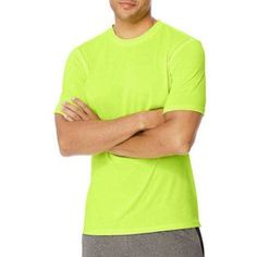 Hanes Sport Men's Heathered Training Tee, Size: Medium, Green