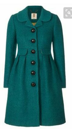 Orla Kiely Boucle Coat: Fitted coat in boucle textured fabric. Coat is button through at centre front with retro domed buttons. Boucle Coat, Cute Coats, Winter Mode, Mode Hijab, Mode Inspiration, Mode Style, Clothes For Sale, Pretty Outfits, Winter Fashion