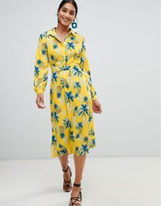 Pineapple and palm tree print So graphic it stops traffic Spread collar Concealed placket Cinched waist Regular cut - fits you just right Summer Co Ords, Asos, Midi Shirt Dress, Pineapple Print, Golden Girls, Mi Long, Summer Looks, Summer Vibes, Fashion Online