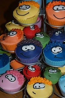 Puffle Cupcakes - Club Penguin - A How To... | Baking, Recipes and Tutorials - The Pink Whisk
