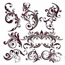 cute scroll stencil designs. Name  Vector Floral Design Elements Free downloadable flourishes printables DIY