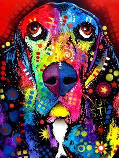 Rainbow colors ❖de l'arc-en-ciel❖❶Toni Kami Colorful Beagle dog pop art Dean Russo