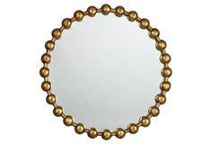Ball-Chain Wall Mirror, Gold