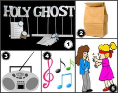 We found some REALLY good activities and lesson helps about the Holy Ghost for you to use for your family or church calling. Primary Songs, Primary Singing Time, Primary Activities, Sunday School Activities, Enrichment Activities, Lds Primary, Faith Church, Lds Church, Holy Ghost Lesson