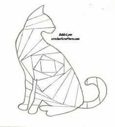 Cat pattern for iris folding: