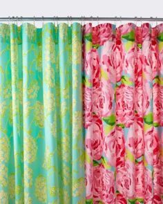 Lilly Pulitzer® Sister Florals Shower Curtain- Wish I knew who my room mate will be so I can tell her we NEED Lilly Pulitzer EVERYTHING