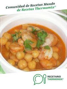 GARBANZOS CON LANGOSTINOS por coma. La receta de Thermomix® se encuentra en la categoría Potajes y platos de cuchara en www.recetario.es, de Thermomix®