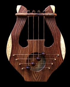 King David Door Harp Beautiful Two Tone Wood Design