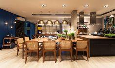 Escritório de Comunicação: Sala do Marido Gourmet apresenta muito design
