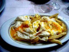 Huevos fritos con patatas al estilo Casa Lucio