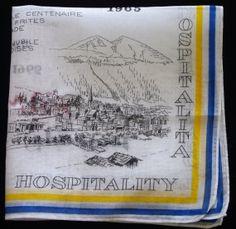 Vintage Handkerchief Hanky Davos Switzerland A by TheTreasurePort, $9.99