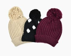 Slouchy Hats with Pom-Pom Garage Clothing, Winter Hats, Fall Winter, Spring Summer Fashion, Winter Fashion, Women's Fashion, Slouchy Hat, Scarf Hat, Holiday Wishes