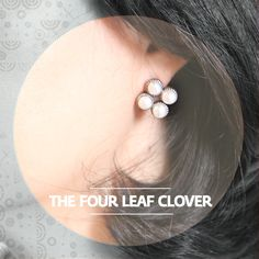 "The Four-Leaf Clover진주잎 클로버 :  ""Handmade design observed and inspired by contemporary art. Media : fresh water pearl, silver and tin. ""   :/ RingPocket 2014"