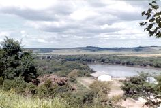 Vista do rio Jacuí do Forte Jesus Maria José,Rio Pardo-RS-Brasil.