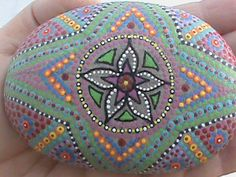 Painted Beach Stone Art - by Christine Salva