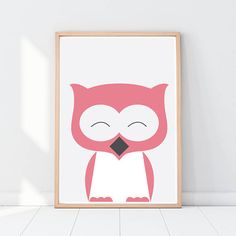 Woodland animals Animal nursery art Owl Nursery decor