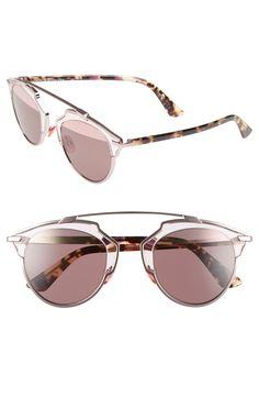 f37345c86c7a Dior So Real 48mm Brow Bar Sunglasses