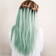Dip-dyed hair and #braid combination