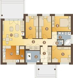 House Plans, New Homes, Floor Plans, How To Plan, Modern, Home Ideas, Projects, Trendy Tree, House Floor Plans