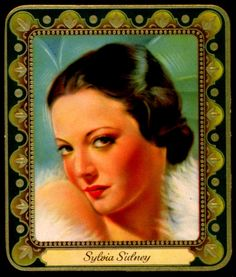 German Cigarette Card - Sylvia Sidney