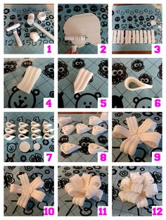 How-to lussenstrik van fondant (how-to poofy gumpaste bow).