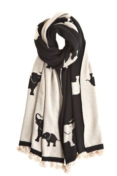 Elephant Scarf. I love this!