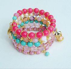Glamour Bracelet Stacked Bracelets Turquoise by BohoStyleMe