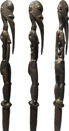 Sawos Statue of a Female Spirit from a Sacred Flute, Middle Sepik River Region, Papua New Guinea | lot | Sotheby's