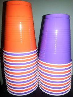 Purple and orange cups for dora party  https://www.facebook.com/Earningcashandgiftcardsonline
