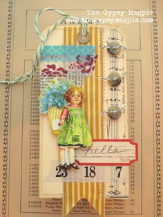 Love the use of wide ribbon on this tag.  The Gypsy Magpie: hello...