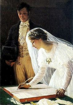 I love this painting.have seen it a number of times, usually and understandably on Wedding Day cards.but it is a painting to be admired on any occasion. Art Et Illustration, Pre Raphaelite, Norman Rockwell, Beautiful Paintings, Romantic Paintings, Love Art, Painting & Drawing, Love Painting, Art History