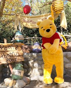 Winnie the pooh- Disneyland ♡ Walt Disney, Disney Parks, Cute Disney, Disney Pixar, Disney Characters, Disneyland Paris, Disneyland Resort, Disney Magie, Foto Top