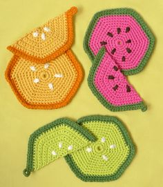Crocheted Fruity Trivets + Potholders