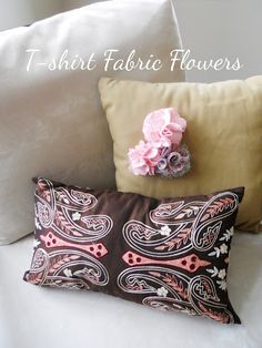 Fabric flowers from T-shirts
