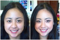 Asian Bride Makeup Before and After www.CharlottesvilleMakeupArtist.com