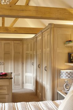 For over 25 years, Figura have been creating handmade luxury interiors for some of Surrey's most beautiful homes. Luxury Bedroom Furniture, Bathroom Furniture, Vaulted Ceiling Bedroom, Bespoke Kitchens, Forest House, Luxurious Bedrooms, Luxury Interior, Beautiful Homes, Architecture