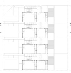 First floor plan of Calle Rivadavia by Galvez Autunno Arquitectos in Santa Cruz, Argentina