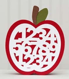 great card for a teacher - apple numbers - free file to download - bjl
