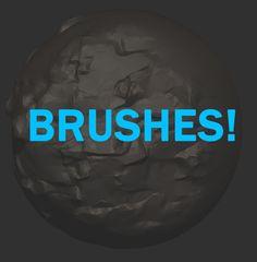 free zbrushes, Martin Ocejo on ArtStation at https://www.artstation.com/artwork/free-zbrushes