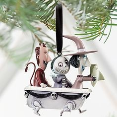 Nightmare Before Christmas Lock Shock and Barrel Tree Ornament | eBay