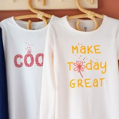 Organic Cotton T Shirts, Coton Bio, Slogan, Sweatshirts, Organic Farming, Minimal, Crew Neck, Health, Sleeves